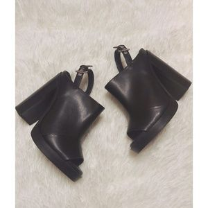 ZARA Chunk Peep Toe Mules Size 38